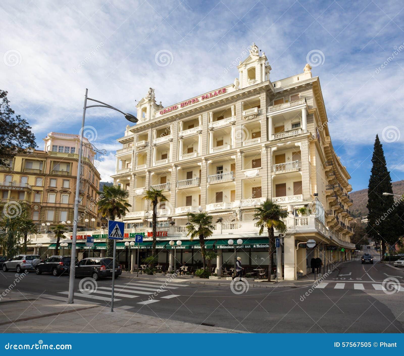 Exterior view of hotel palace bellevue opatija croatia for Design hotel opatija croatia