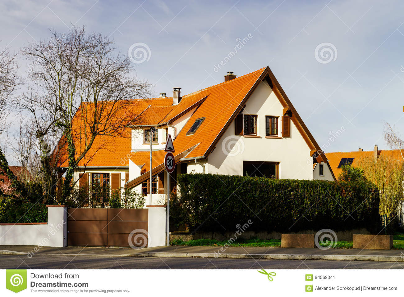 xterior View Of New Modern House In ountryside Stock Photo ... - ^