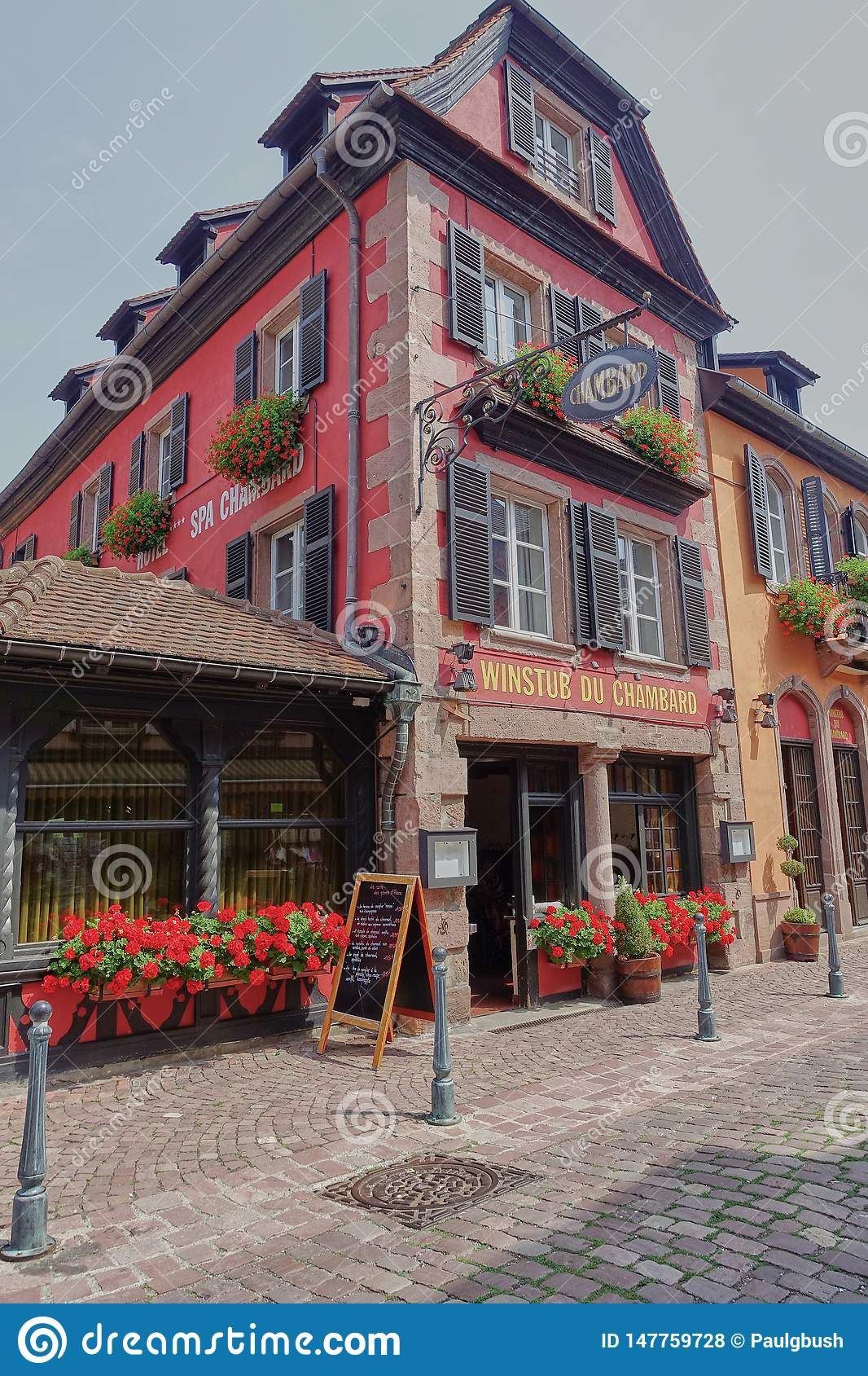 Exterior View of Relais & Chateau Hotel Chambard in Kaysersberg