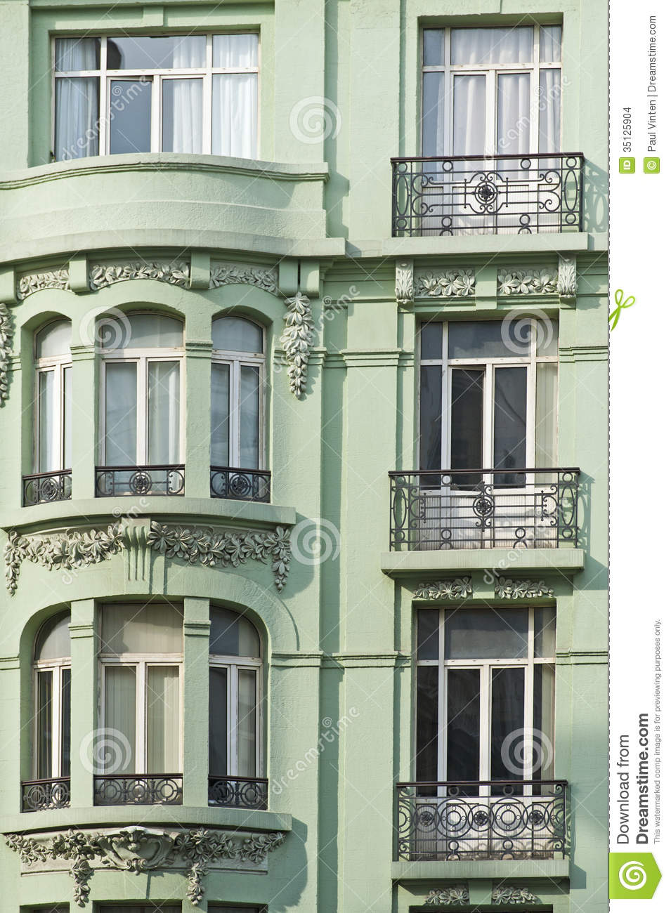 Exterior Wall Of An Apartment Building Stock Photo Image