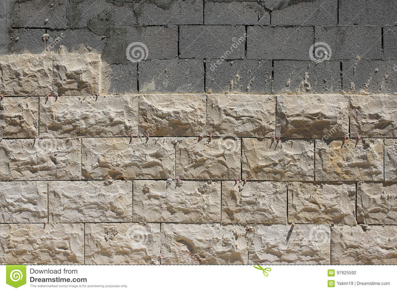 Exterior Wall Cladding With Natural Stone Stock Photo Image Of