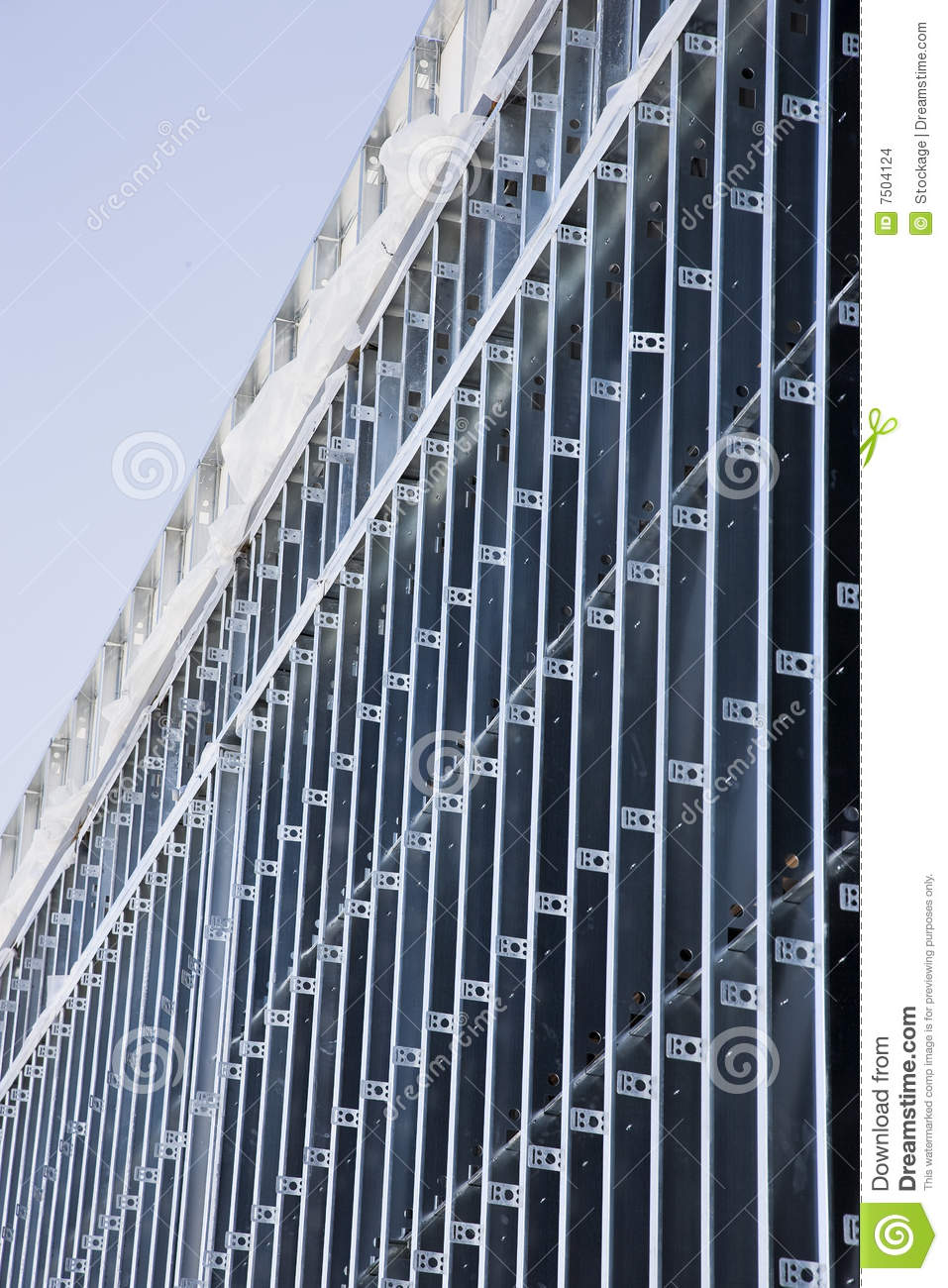 Exterior wall of metal studs stock images image 7504124 for Time saver details for exterior wall design