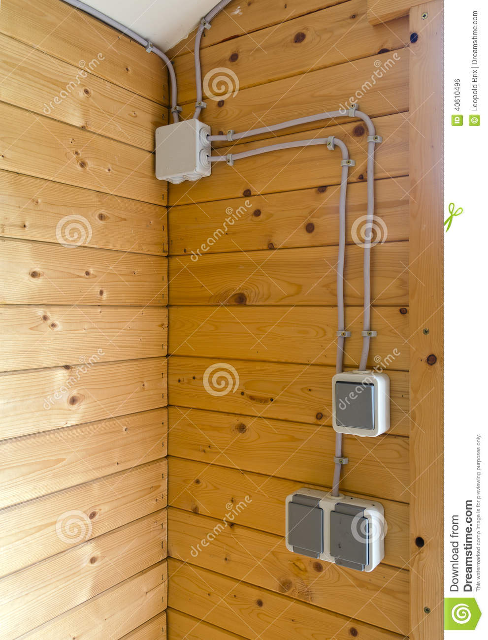 House Electrical Installation : External electrical installation stock photo image of