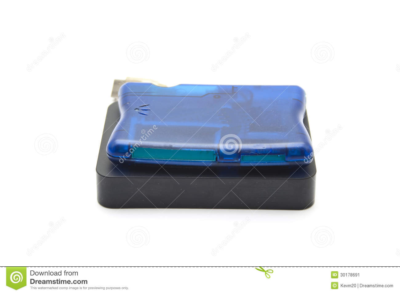 External Hard Drive Disk With Card Reader Stock Image ...