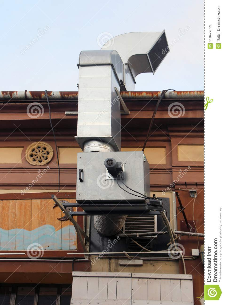 External Kitchen Exhaust System Stock Image - Image of system ...
