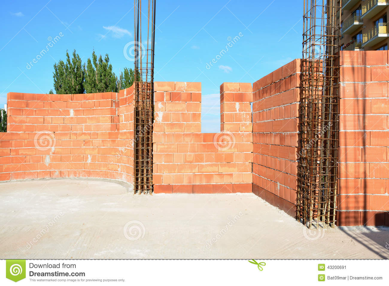 External Wall Constructions Stock Photo Image 43200691