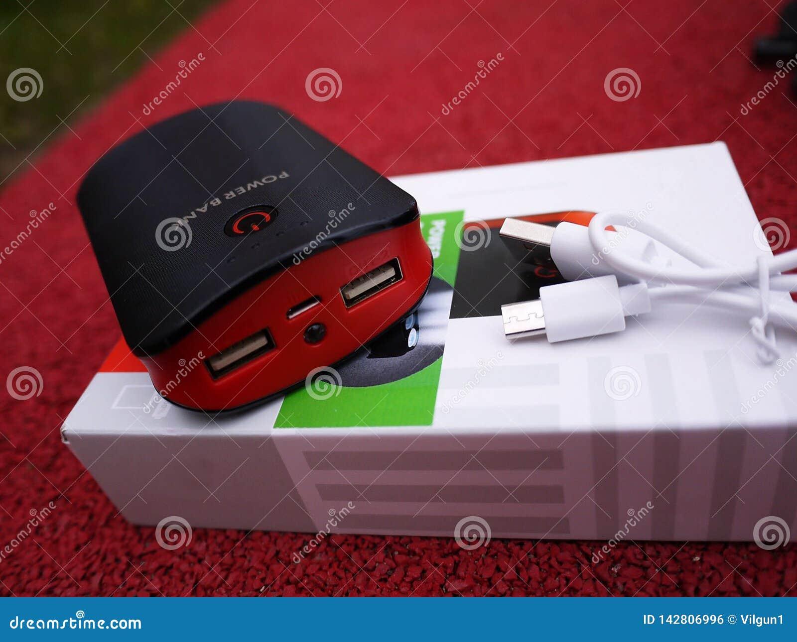Externe machtsbank voor het laden smartphones en andere apparaten Dien om de batterij aanvulling
