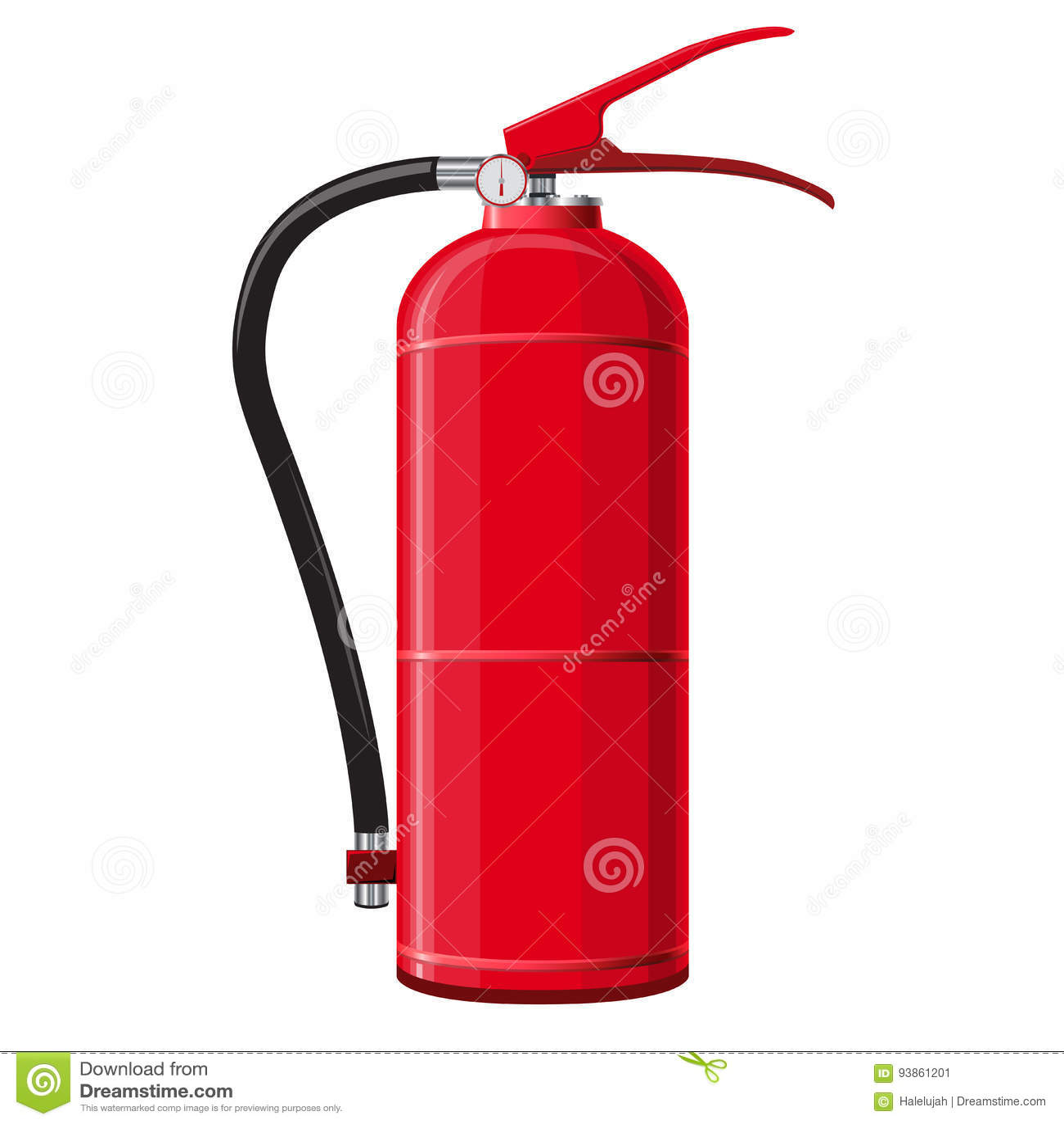 Extincteur rouge avec le tuyau Équipement de lutte contre les incendies de sécurité
