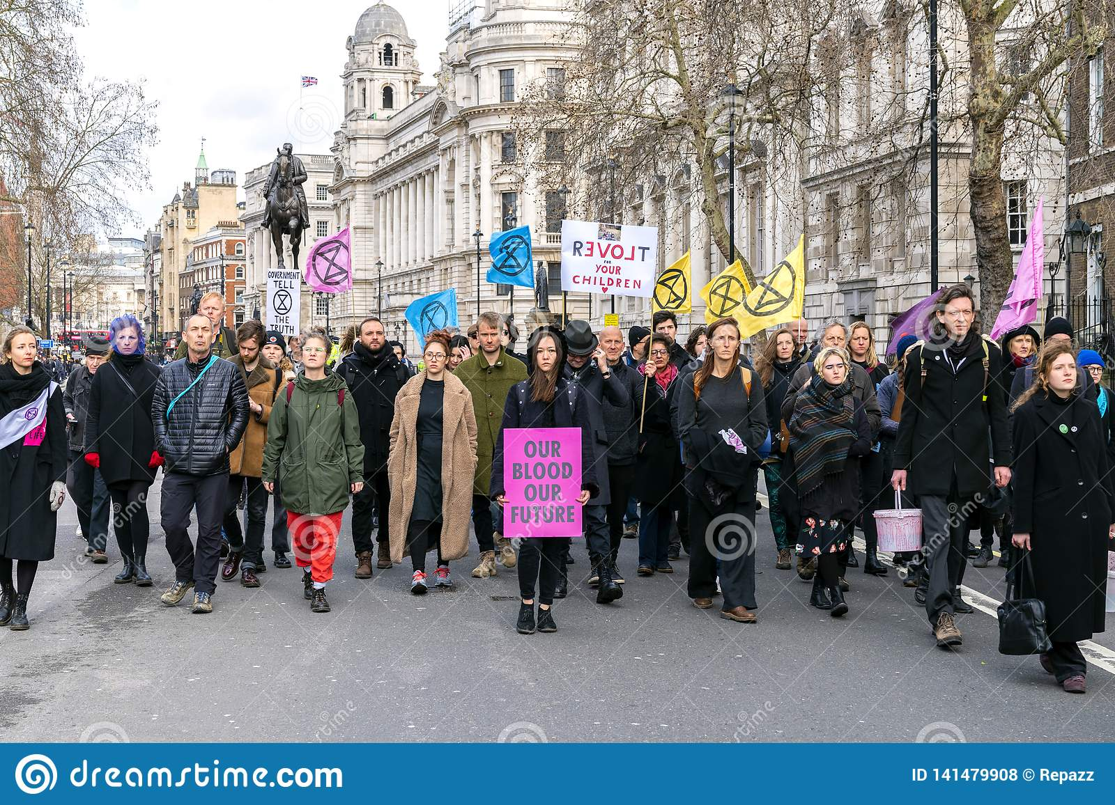 Extinction Rebellion Rally Demonstration in London