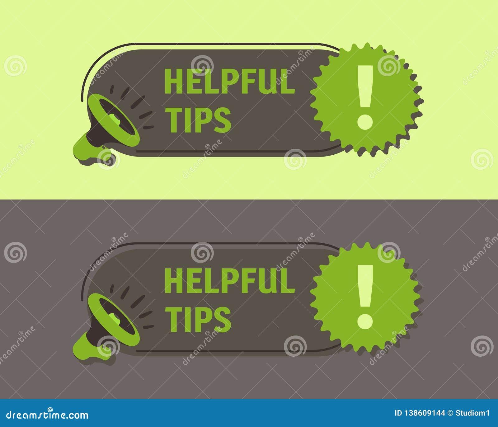 Extrémités utiles Mégaphone avec la parole de bulle Autocollant pour la promotion et la publicité Illustration de vecteur pour la