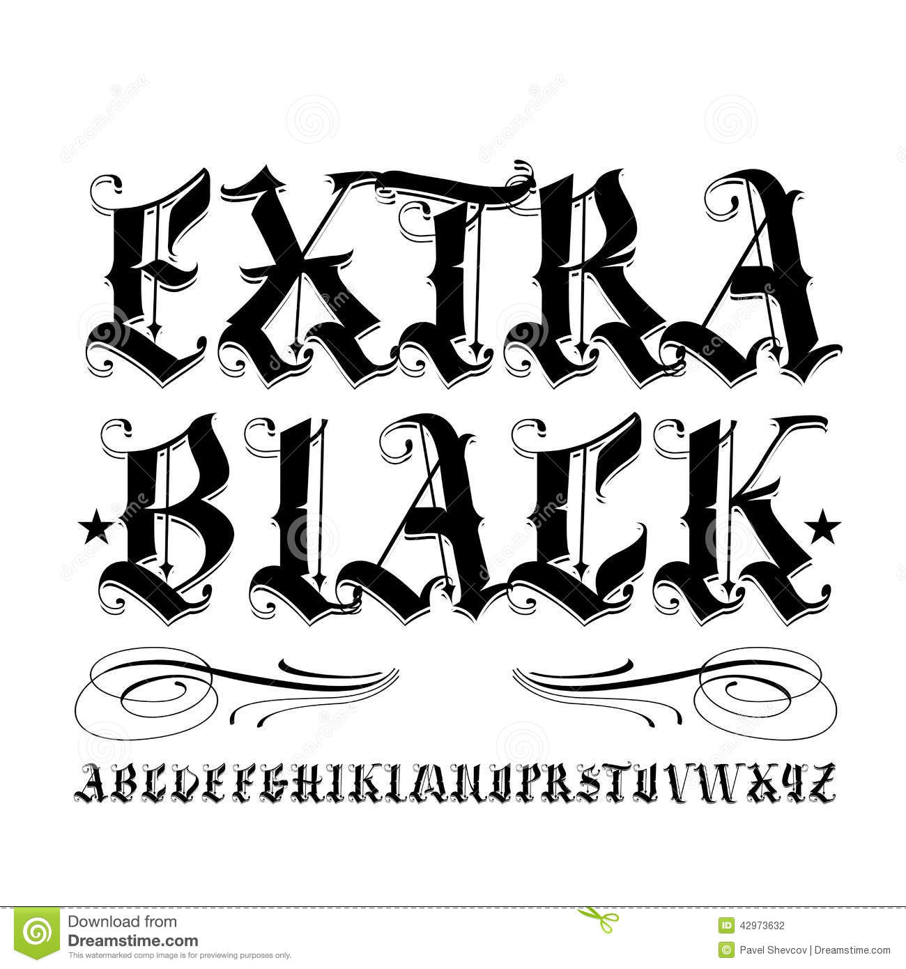 Extra Black Lettering Stock Vector Illustration Of Graphic 45143418