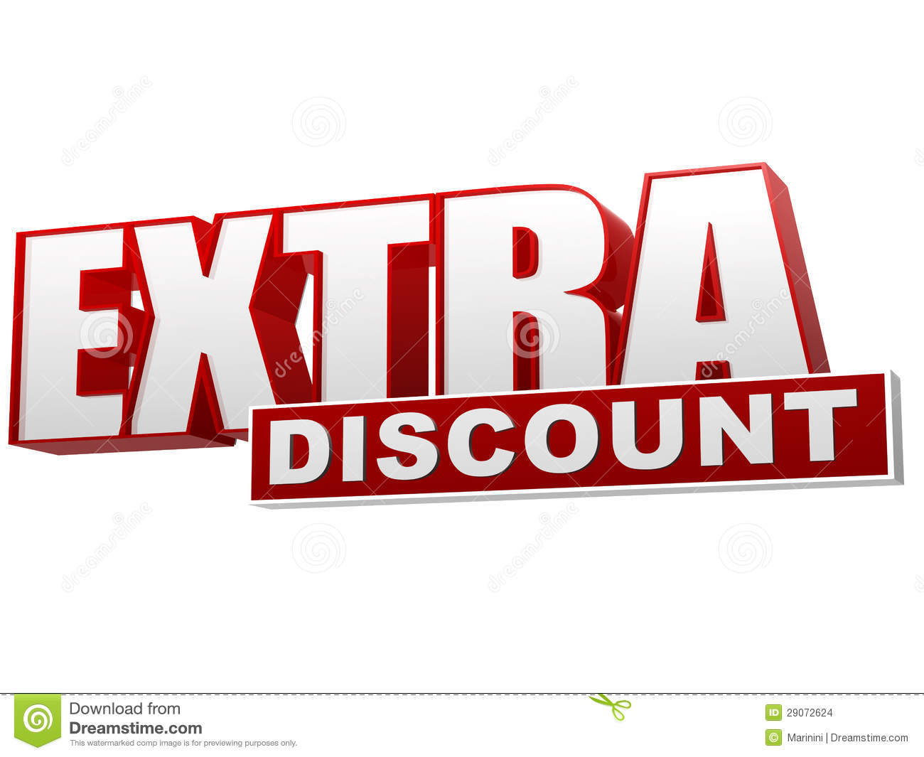 Extra discount red white banner letters and block stock for Bargain wallpaper
