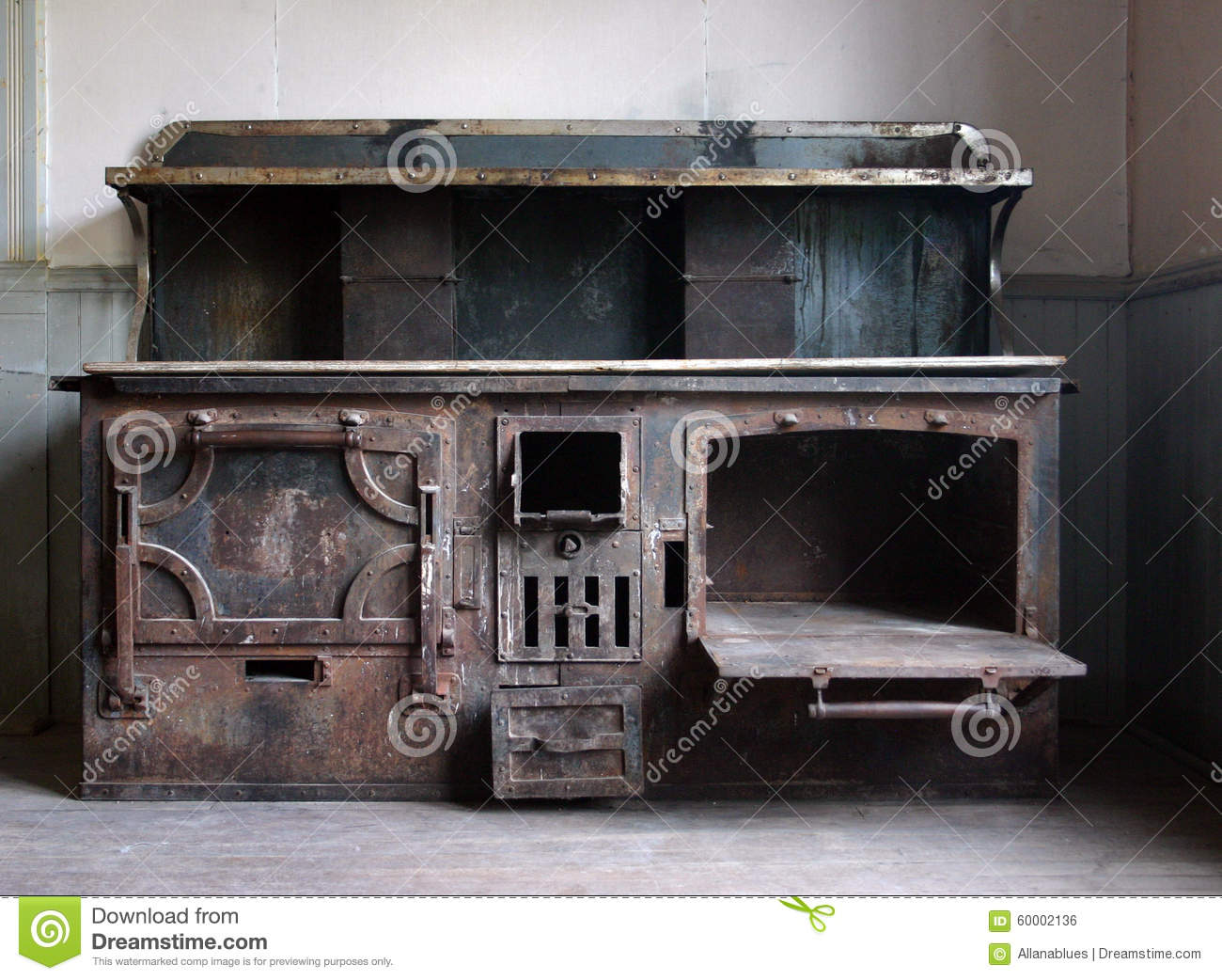Antique Wood Cooking Stove - Antique Wood Cooking Stove Stock Photo - Image: 60002136