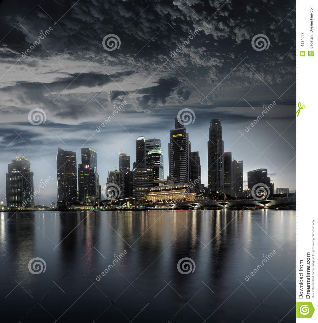 Extra large Stormy picture of Singapore landscape