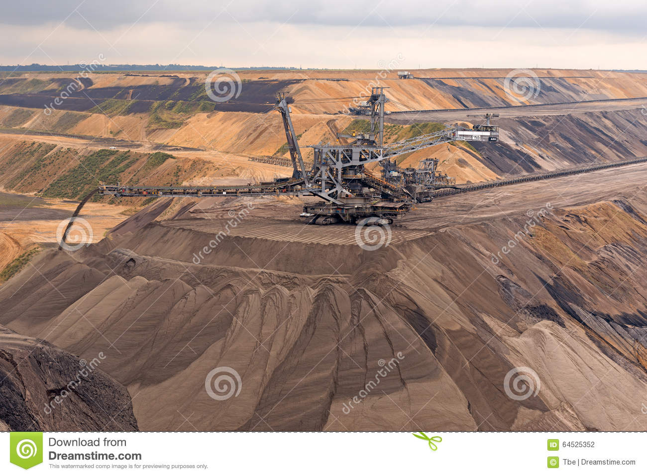 Extraction le lignite