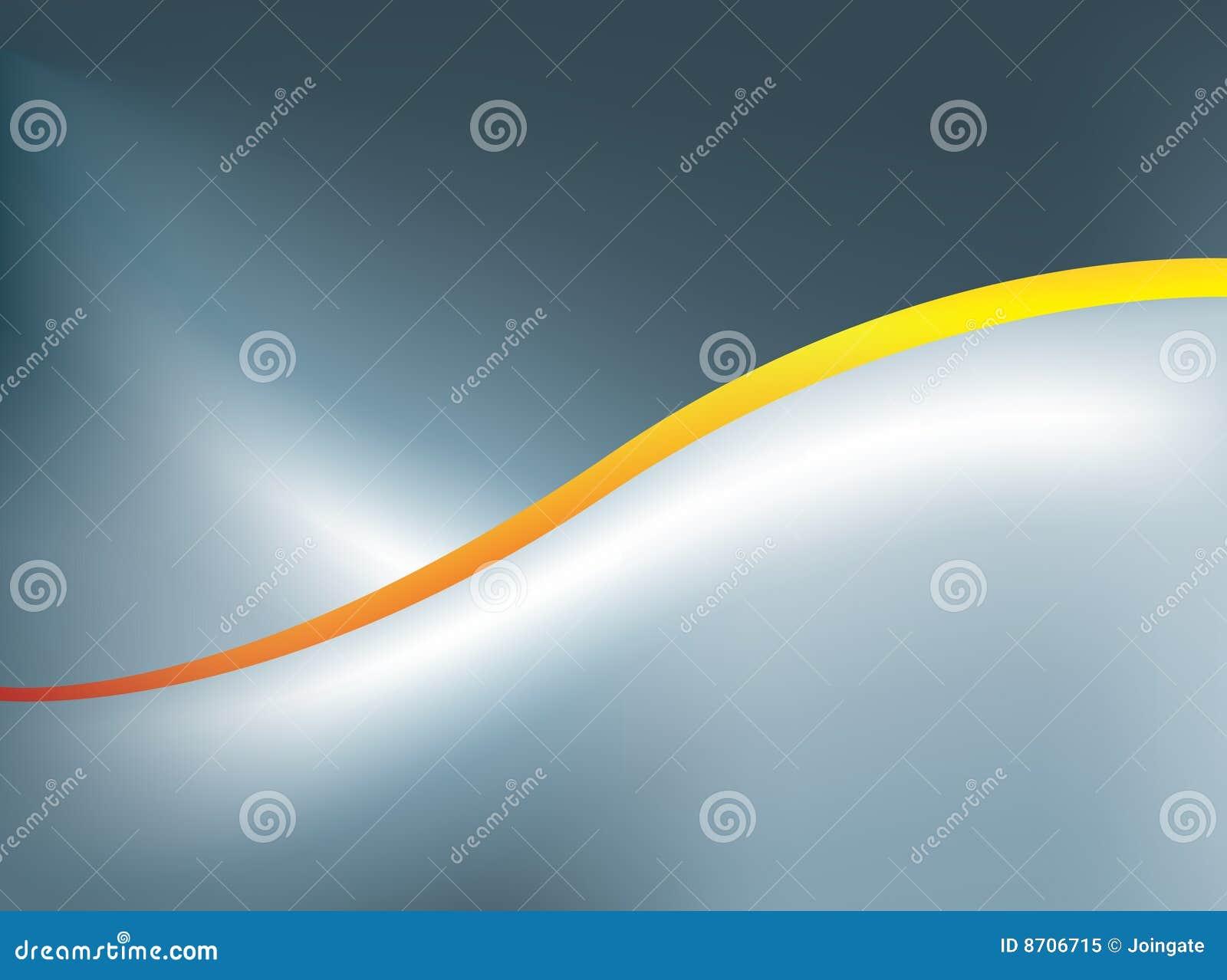 Extracto anaranjado de la curva