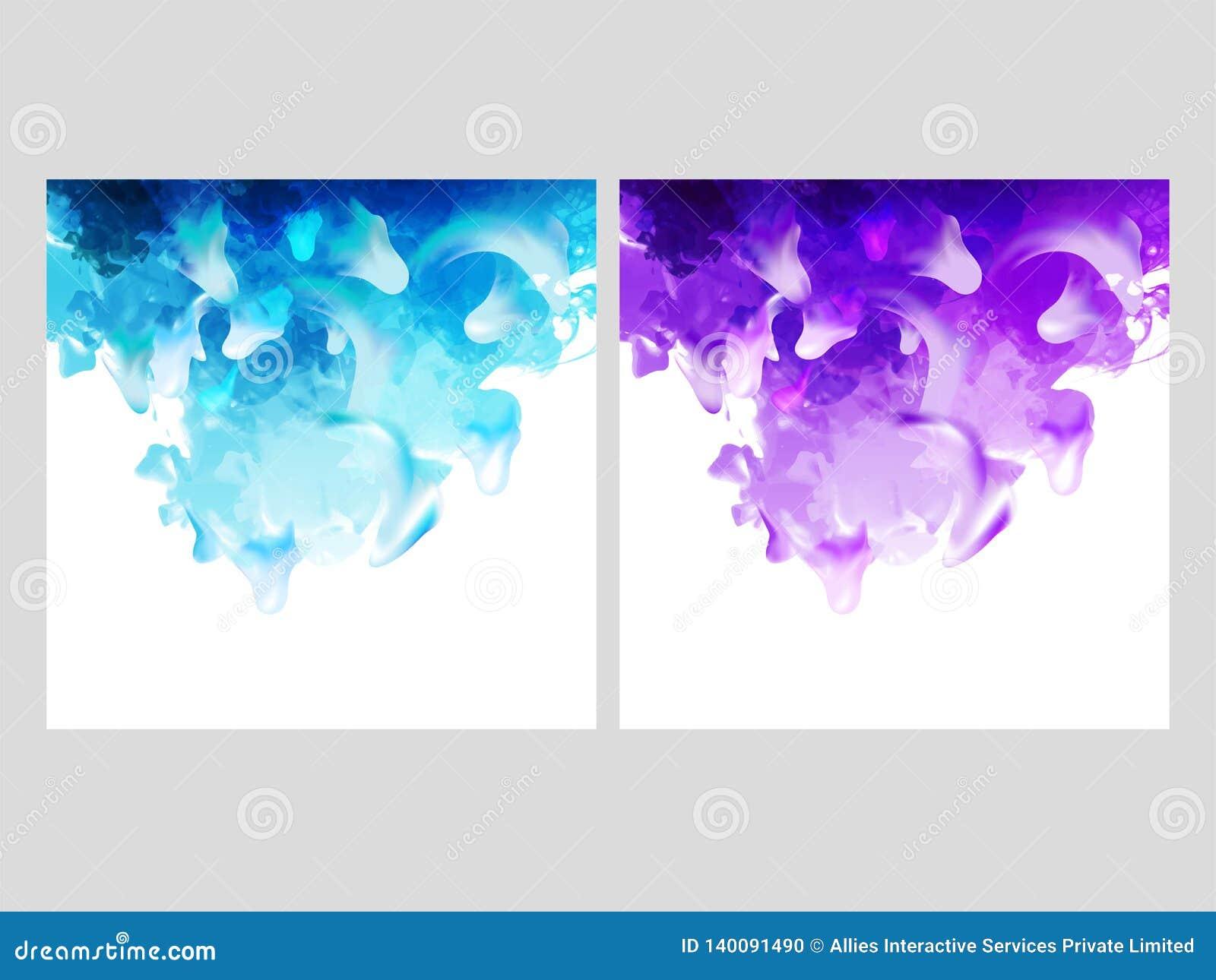 Extracto de disolución de la acuarela en la opción bicolor