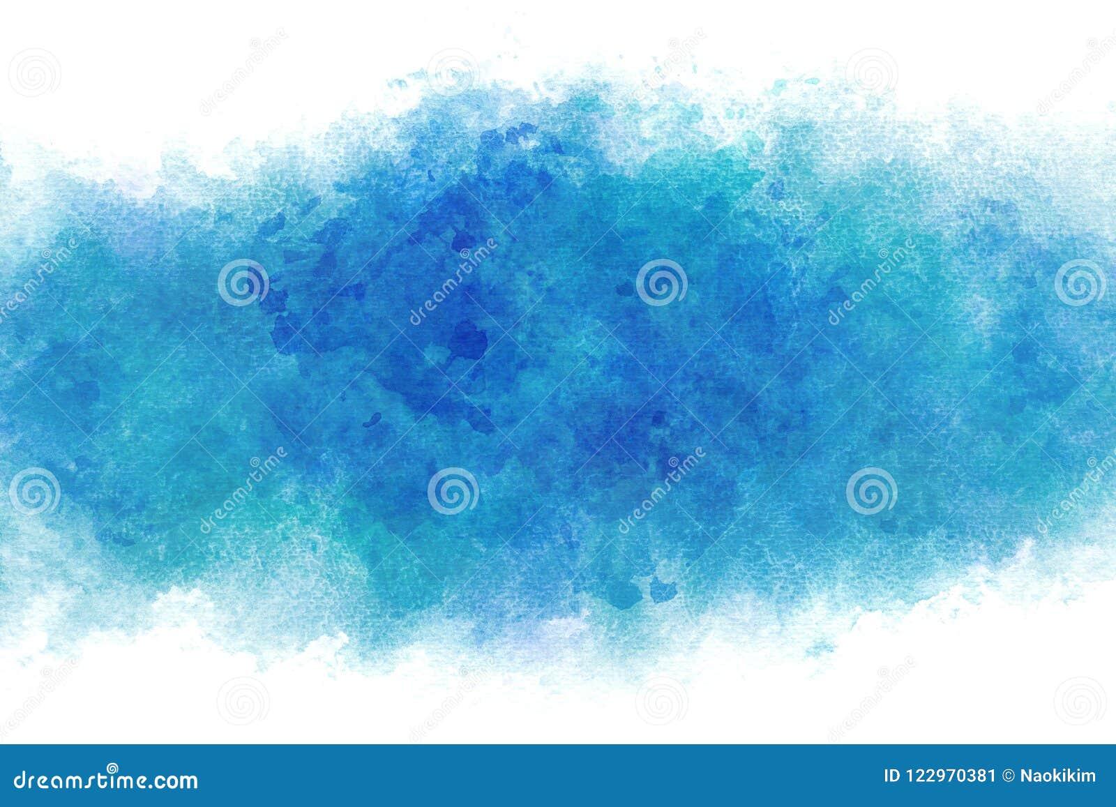 Extracto de la onda de agua azul del verano o fondo de la pintura de la acuarela del vintage