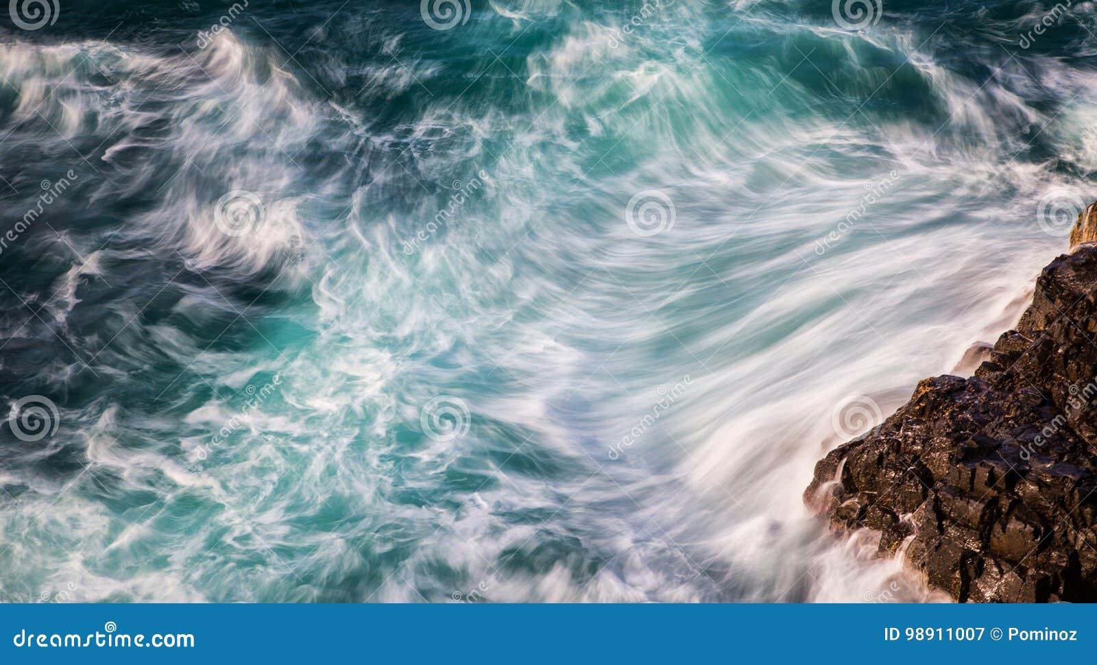 Extracto de olas oceánicas
