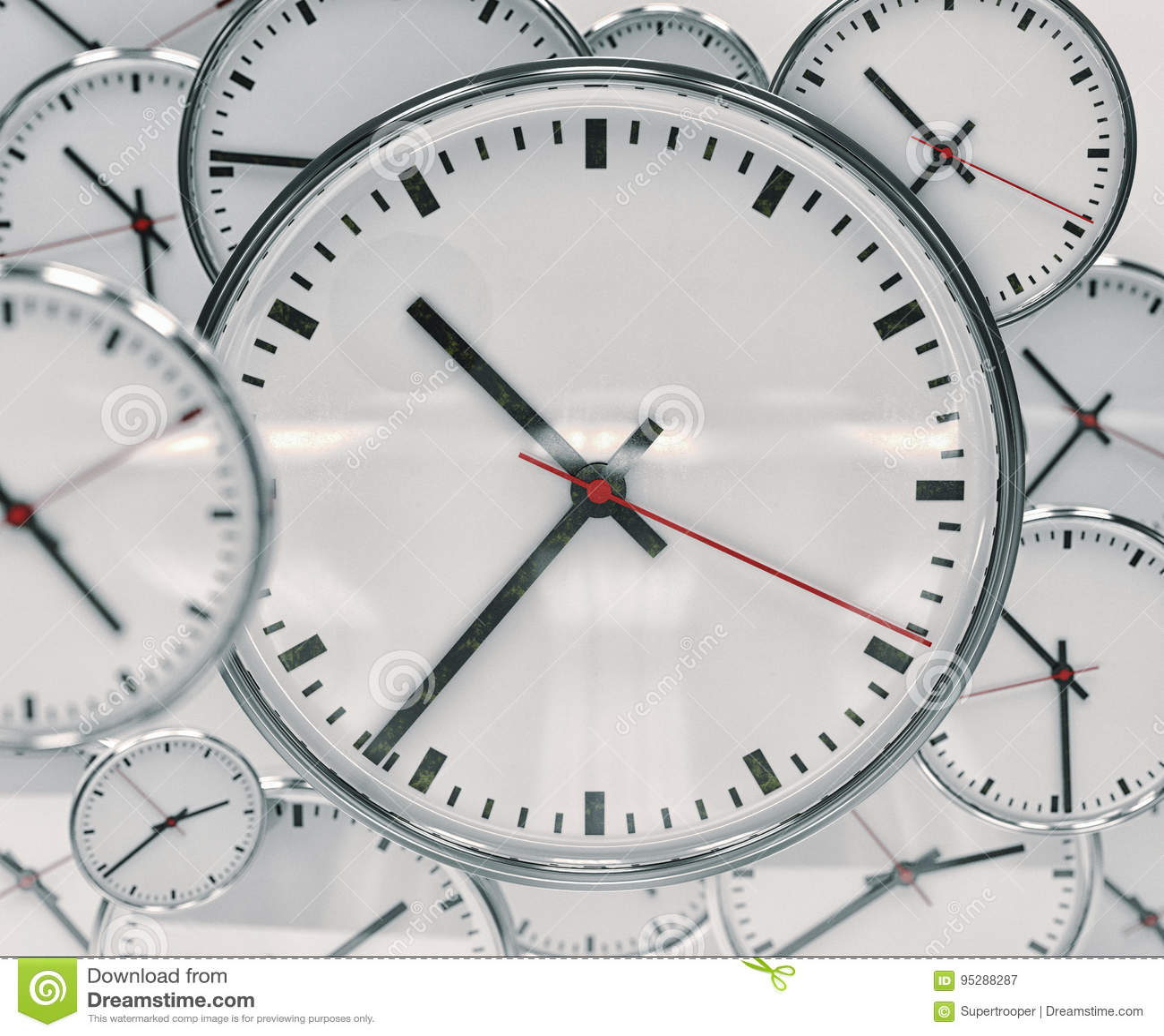 Extracto del fondo del reloj