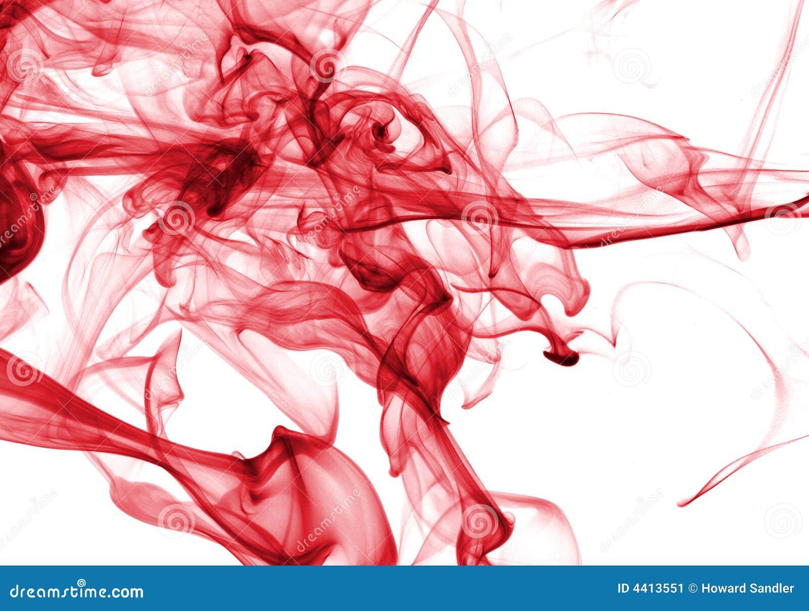 Extracto del humo en rojo
