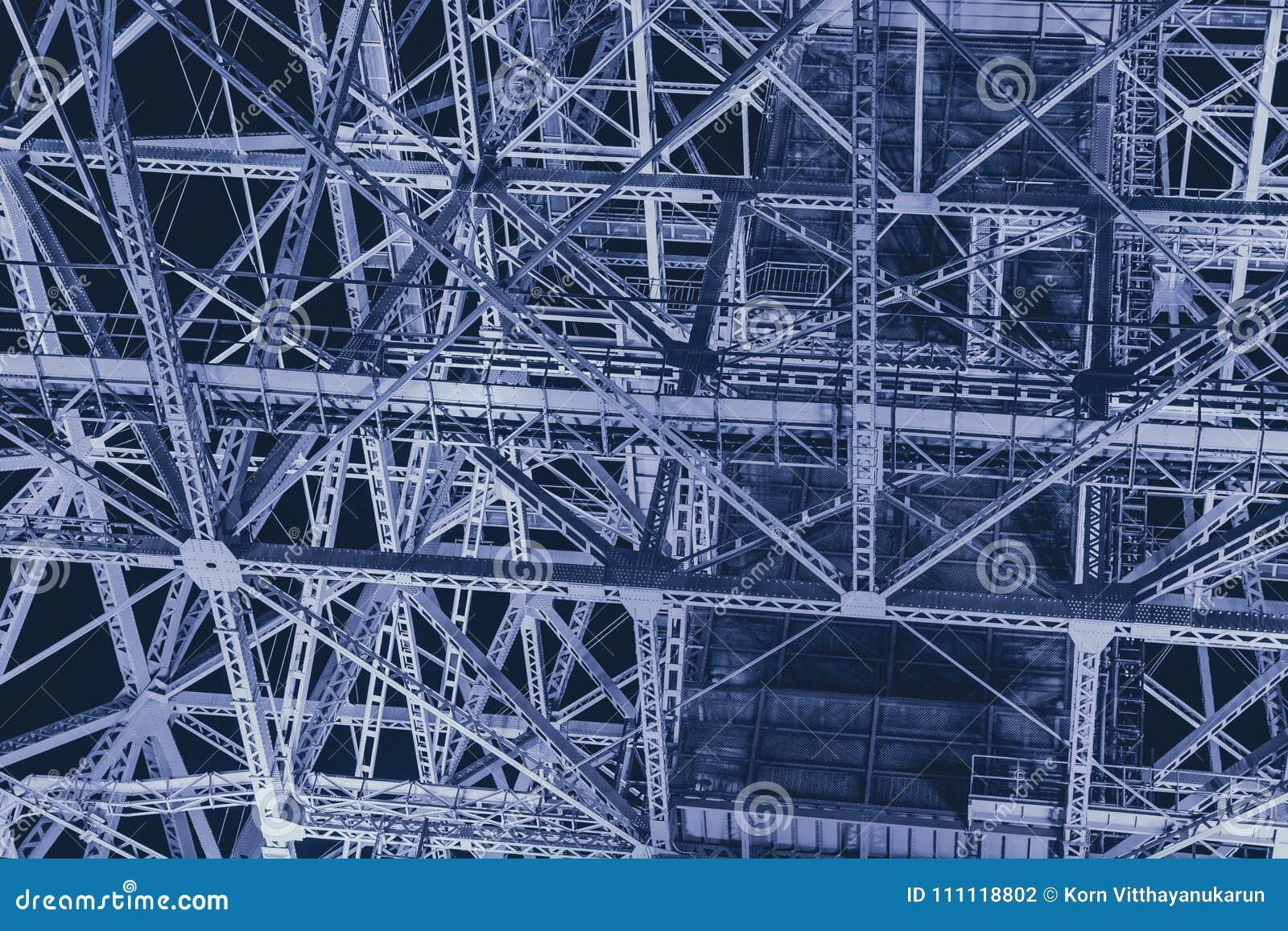 Extracto futurista de la ciencia de metal de la construcción de acero de la industria para el fondo