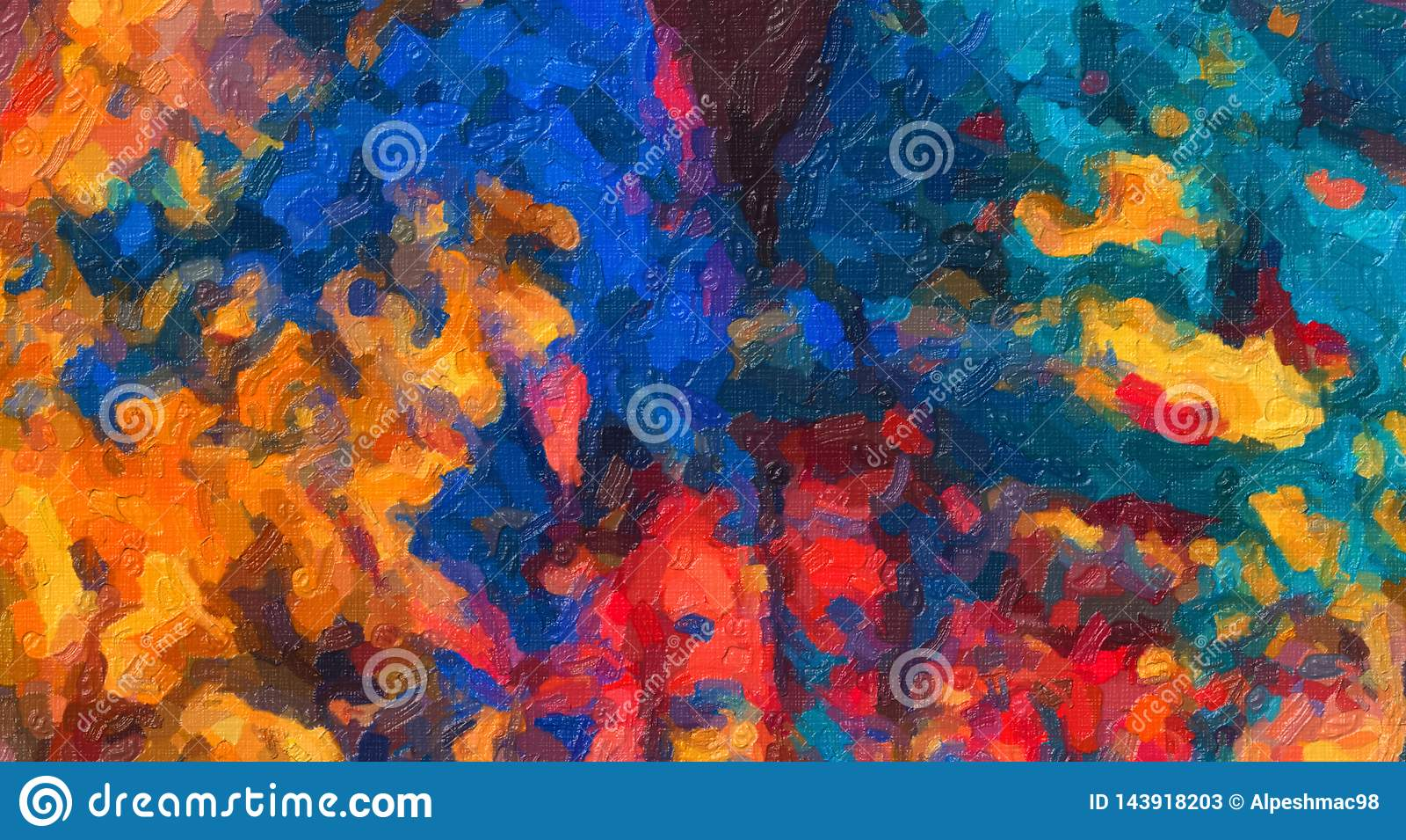 Extracto Holi Art Impasto Painting, arte de Holi, pintura colorida