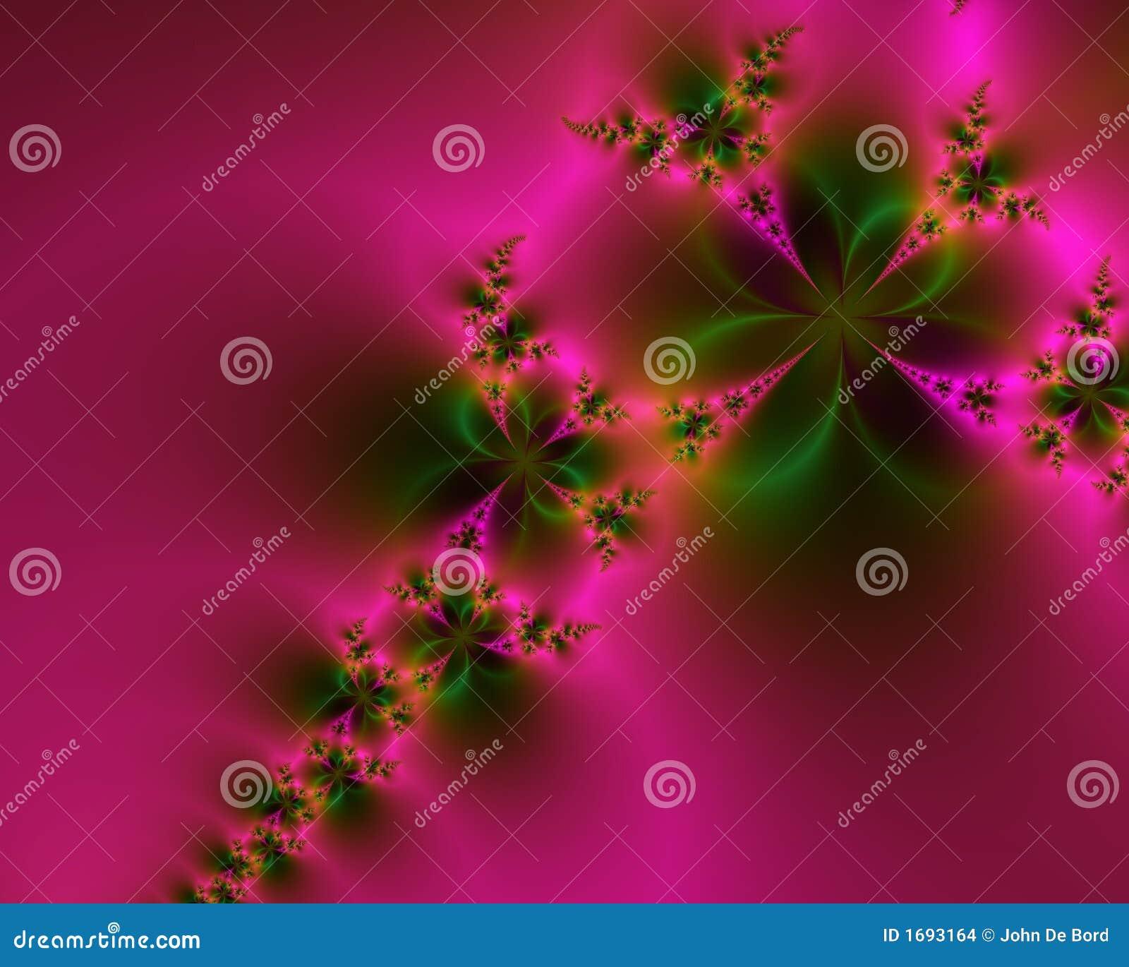 Extracto rosado y verde romántico