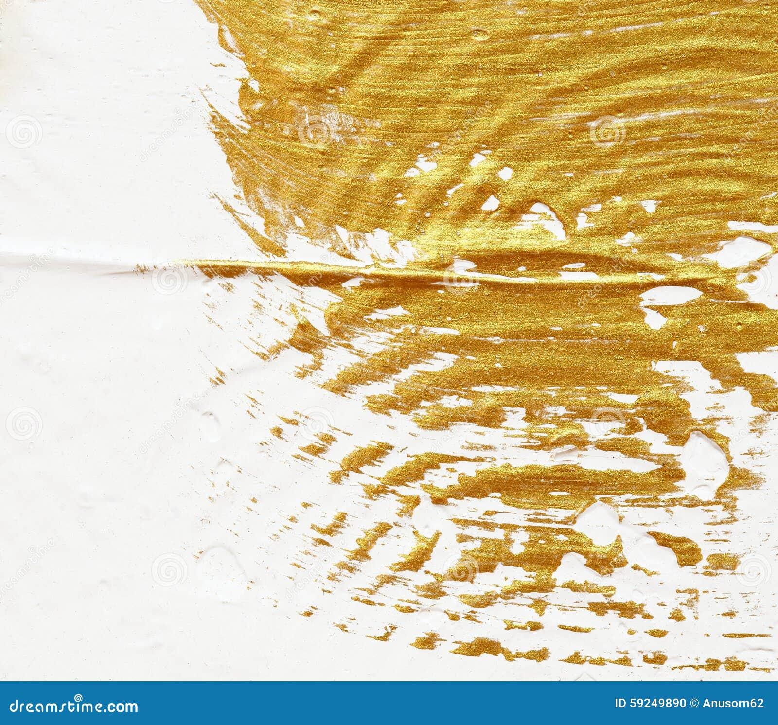 Extracto texturizado acrílico de la pintura del oro