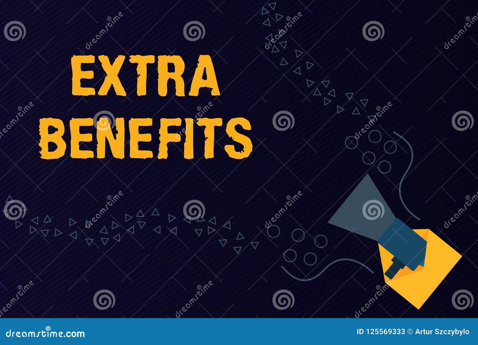 Extraförmåner för textteckenvisning För kompensationsbonus för begreppsmässigt foto extra avdrag för incitament för subventioner