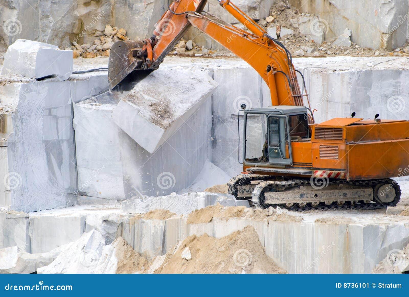 Extraktion eines Marmors
