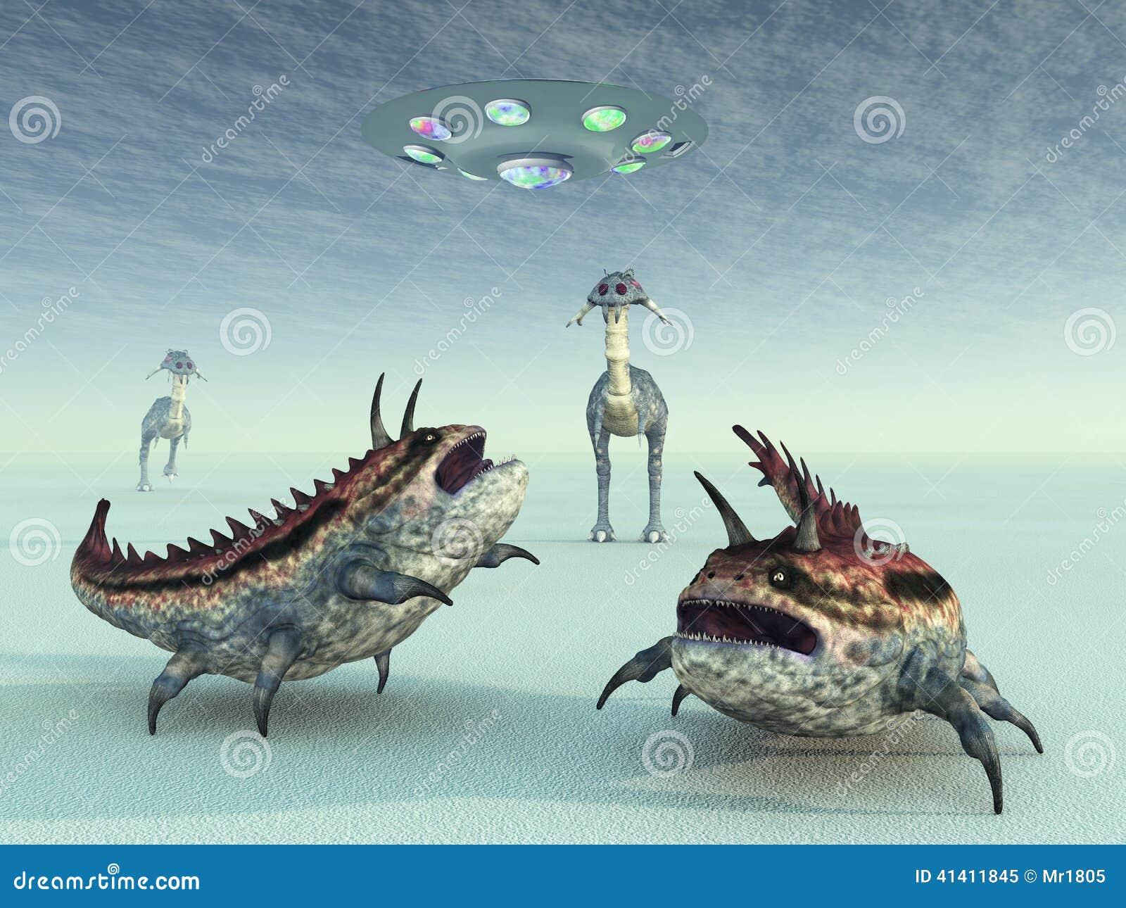 El hombrecito Extraterrestrial-life-computer-generated-d-illustration-another-planet-41411845
