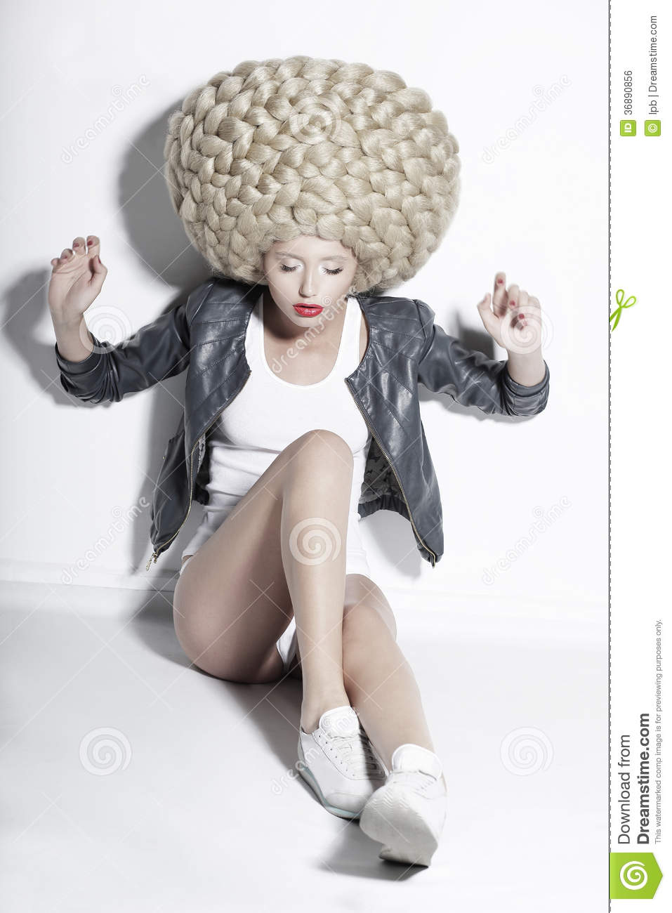Extravagance Eccentric Blonde Hair Model With Fantastic