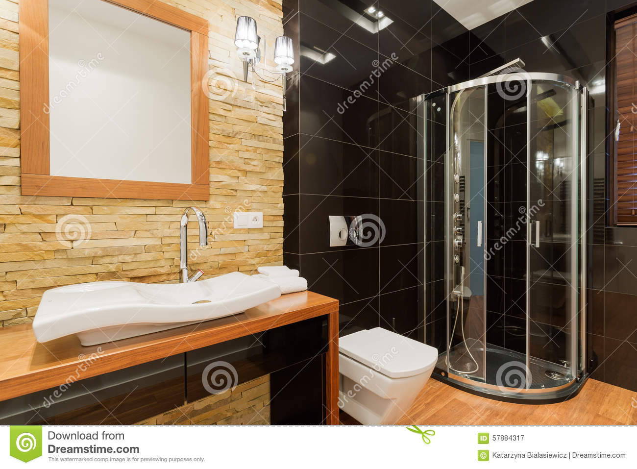 Extravagant Decor Of Bathroom Stock Photo Image 57884317