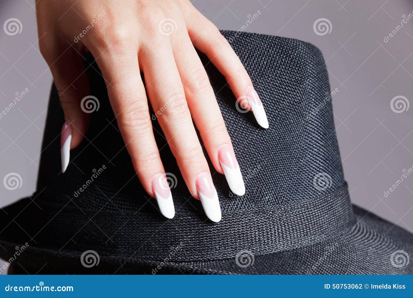 Extravagant French Manicure Stock Photo - Image of beautiful ...