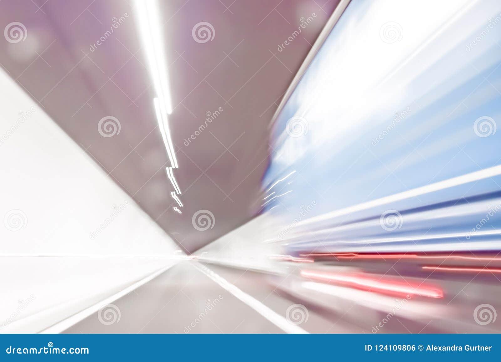 Extrem defocused und unscharfes Bild eines Tunnels