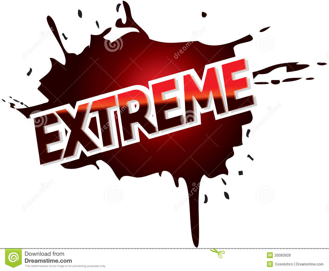 extreme adventure mud logo graphic text royalty free stock Vector Banner Shapes Paint Splat Vector