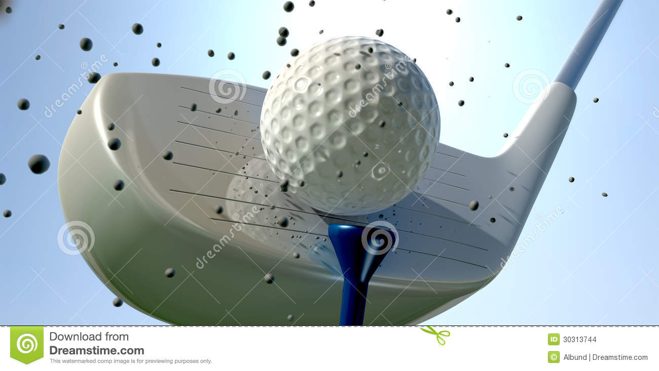 Golf Ball And Club Impact Stock Images Image 30313744