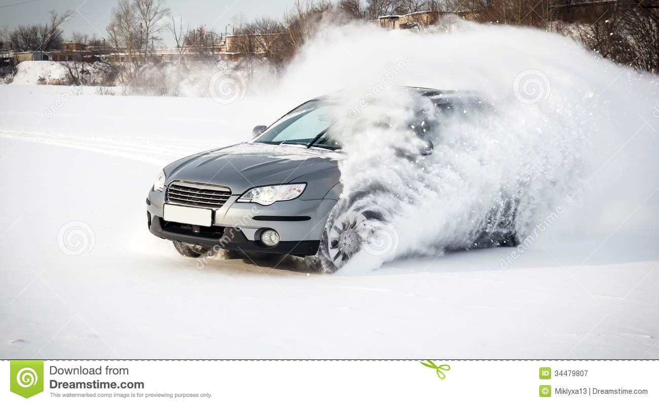 Extreme Driving Stock Image. Image Of Snow, Nature, Cars