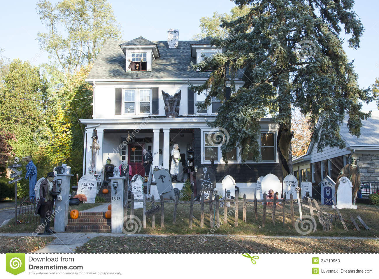 Extreme Halloween Decorating Editorial Stock Photo Image