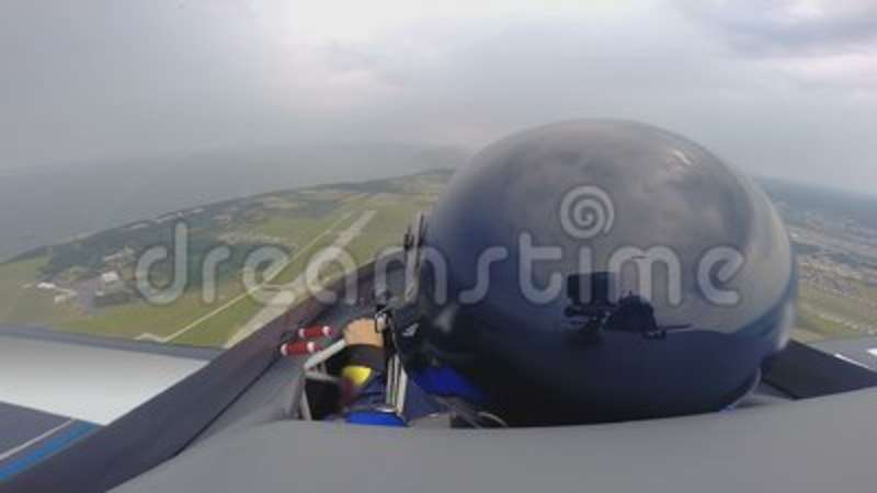 extreme lesson on jet plane pov of professional pilot aircraft