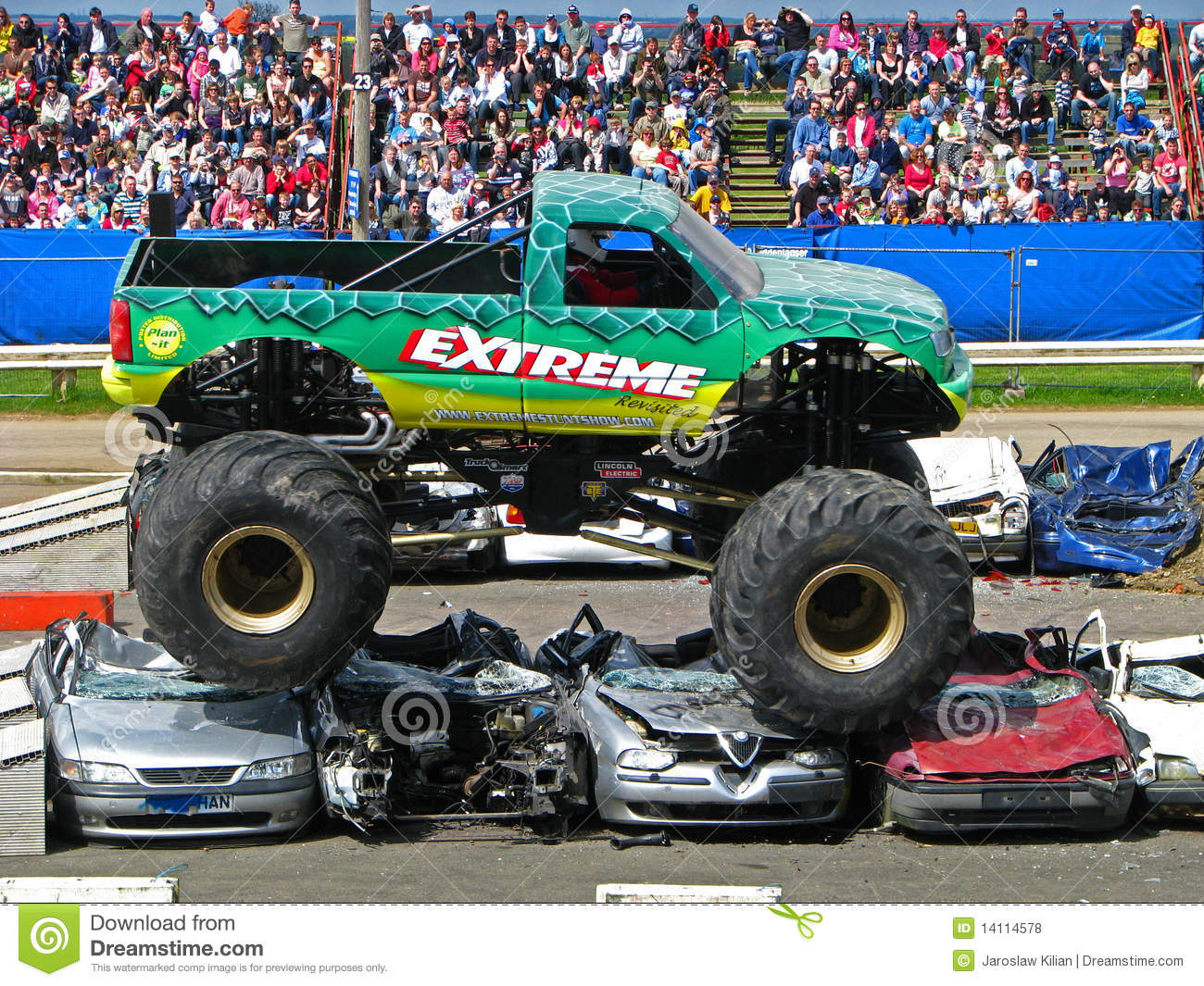 extreme monster truck editorial stock photo image 14114578. Black Bedroom Furniture Sets. Home Design Ideas