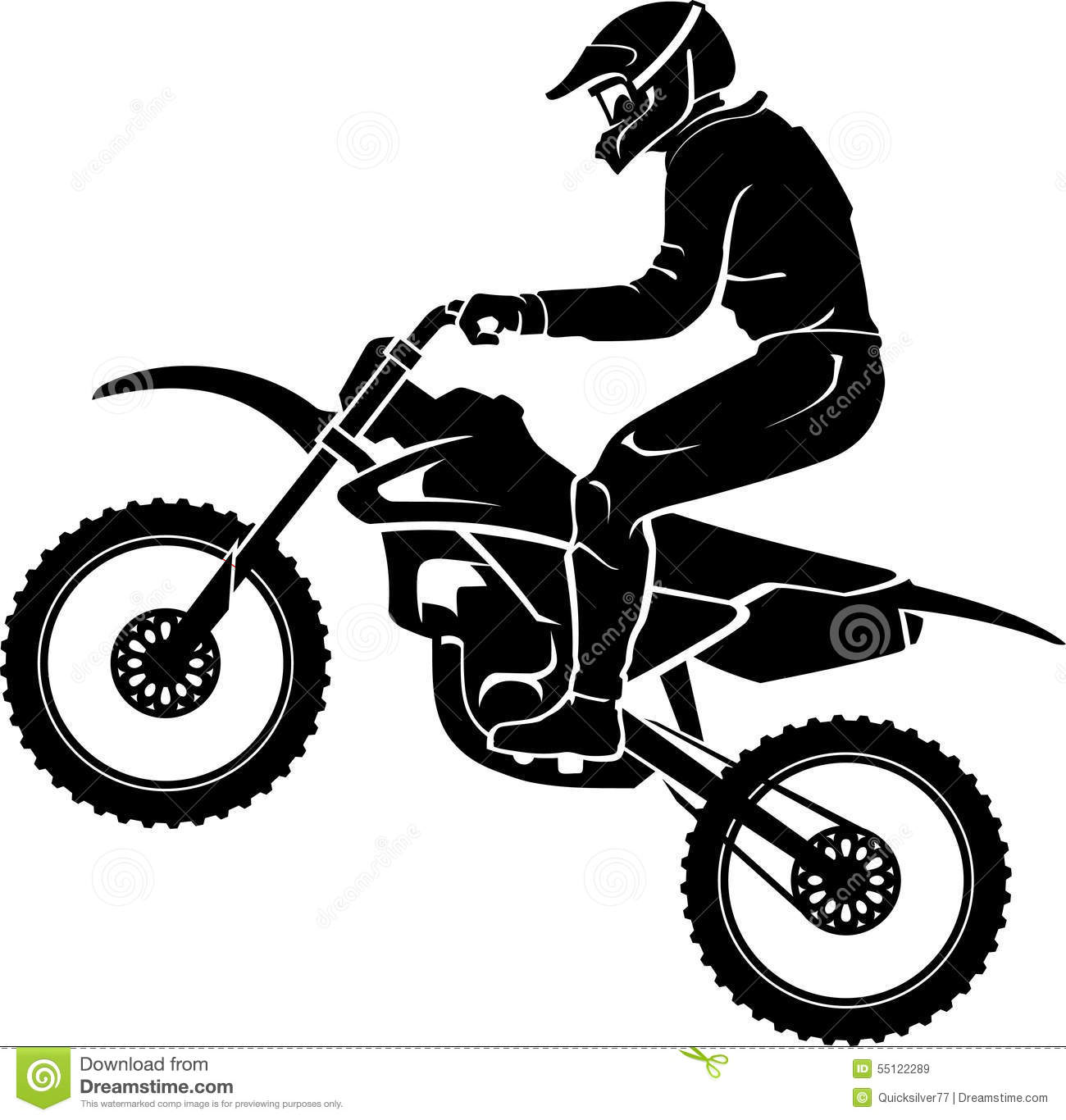 Extreme Motorcross Exhibition Stock Vector Illustration Of Shadow Bike 55122289