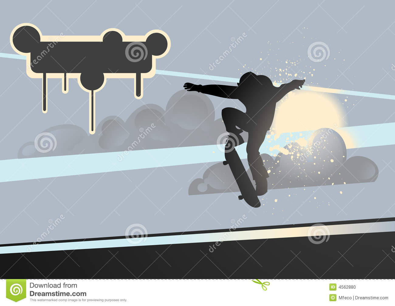 extreme skateboard vector stock vector illustration of cool 4562880