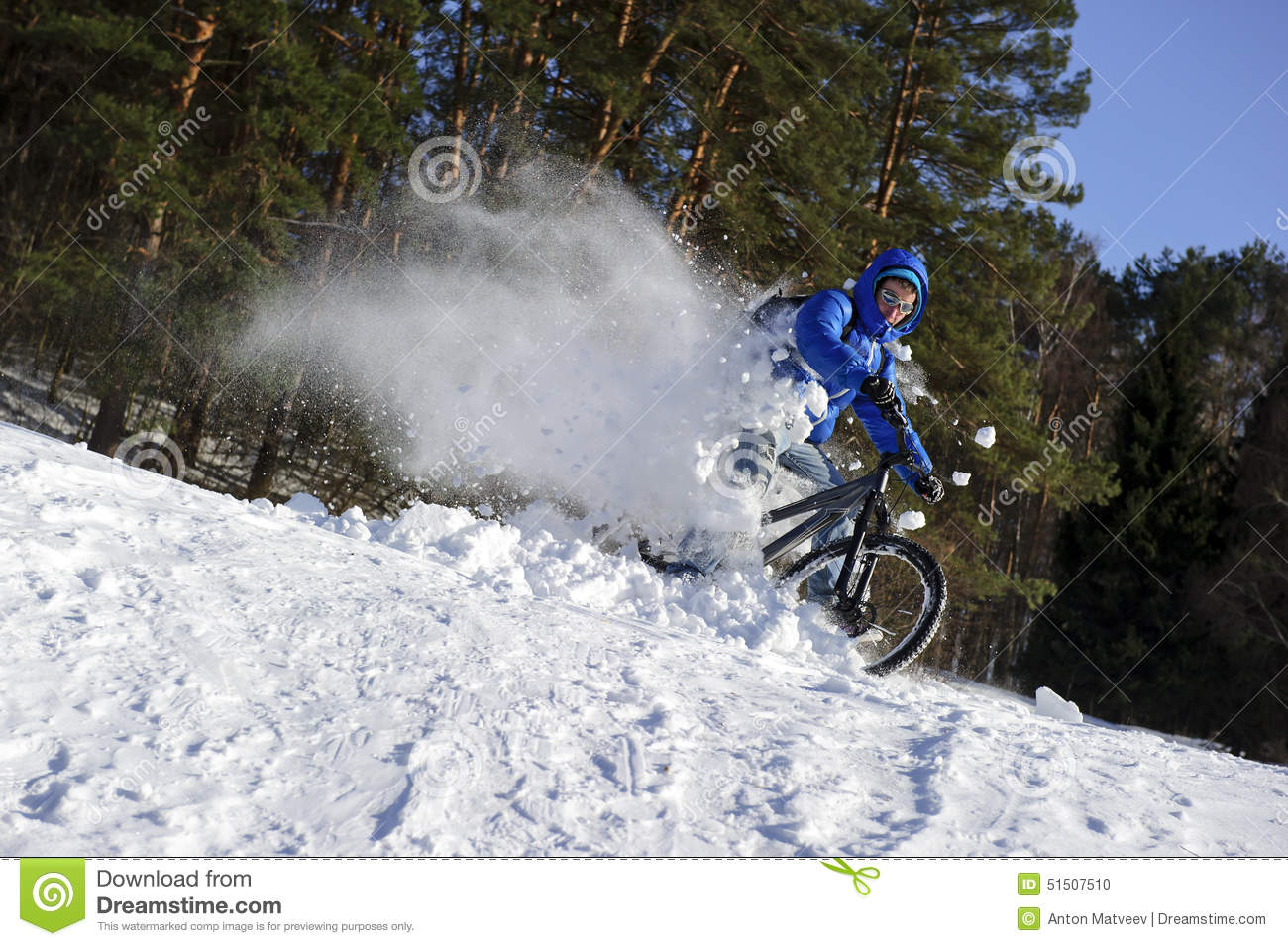 mountainbike snow winter extreme-#4