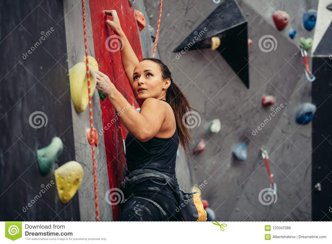 Extreme sport, stress relief, bouldering, people and healthy lifestyle concept.