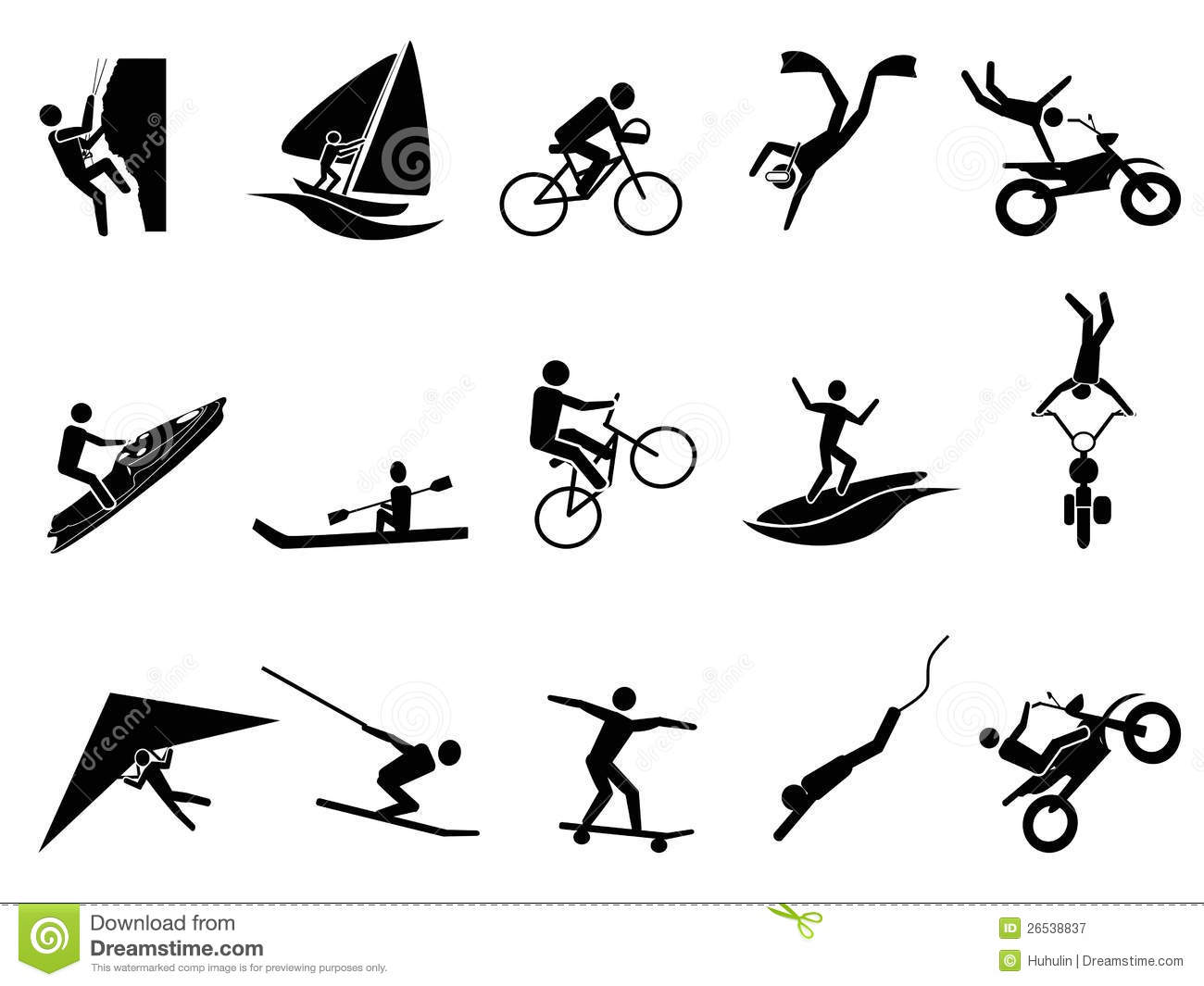 Extreme sports icon set stock vector. Illustration of ...