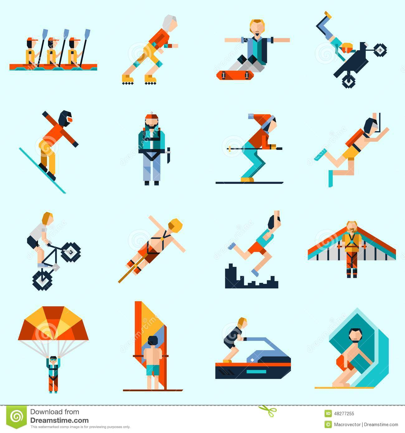 Extreme Sports: Extreme Sports Icons Stock Vector