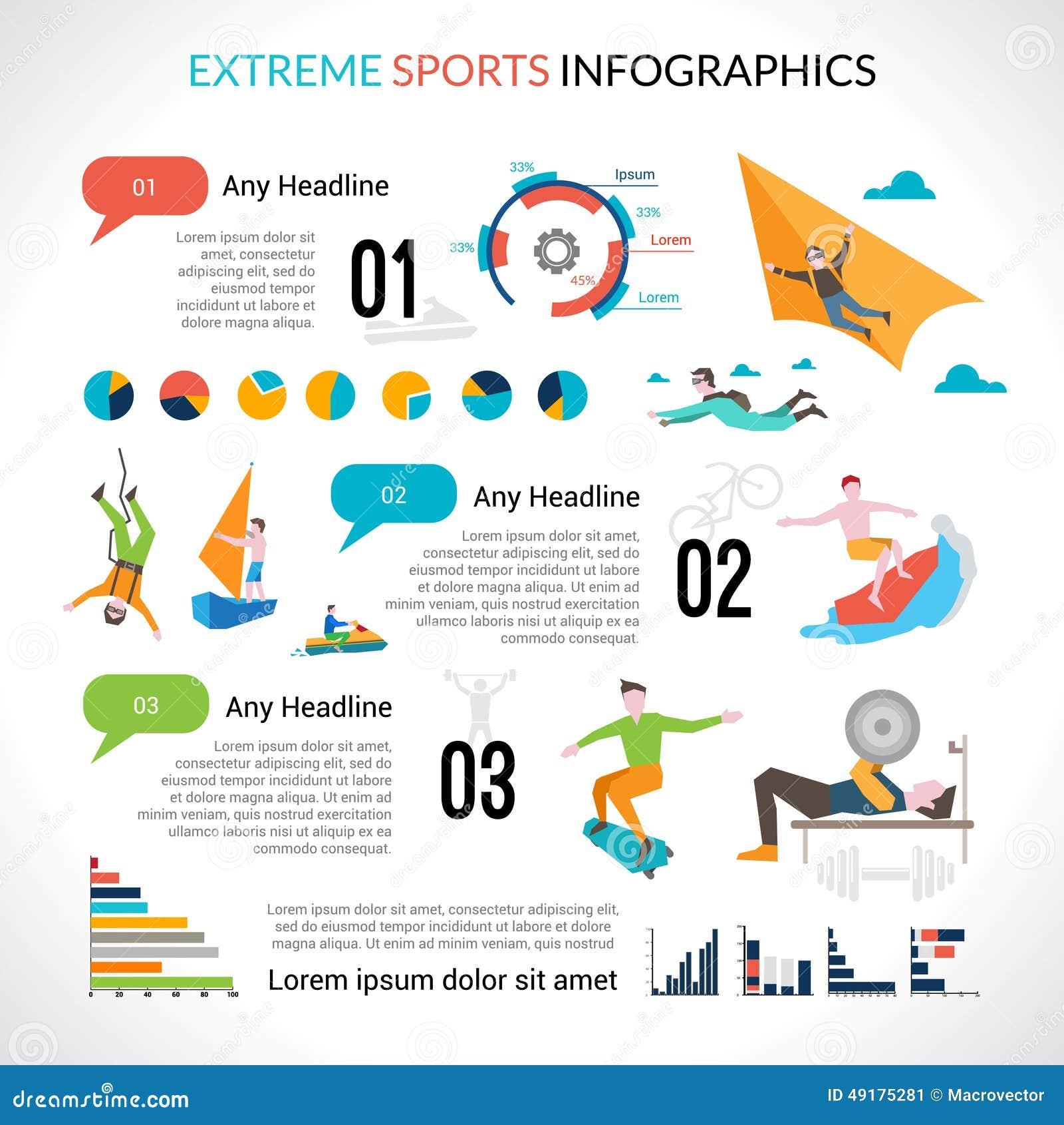 Extreme sports infog