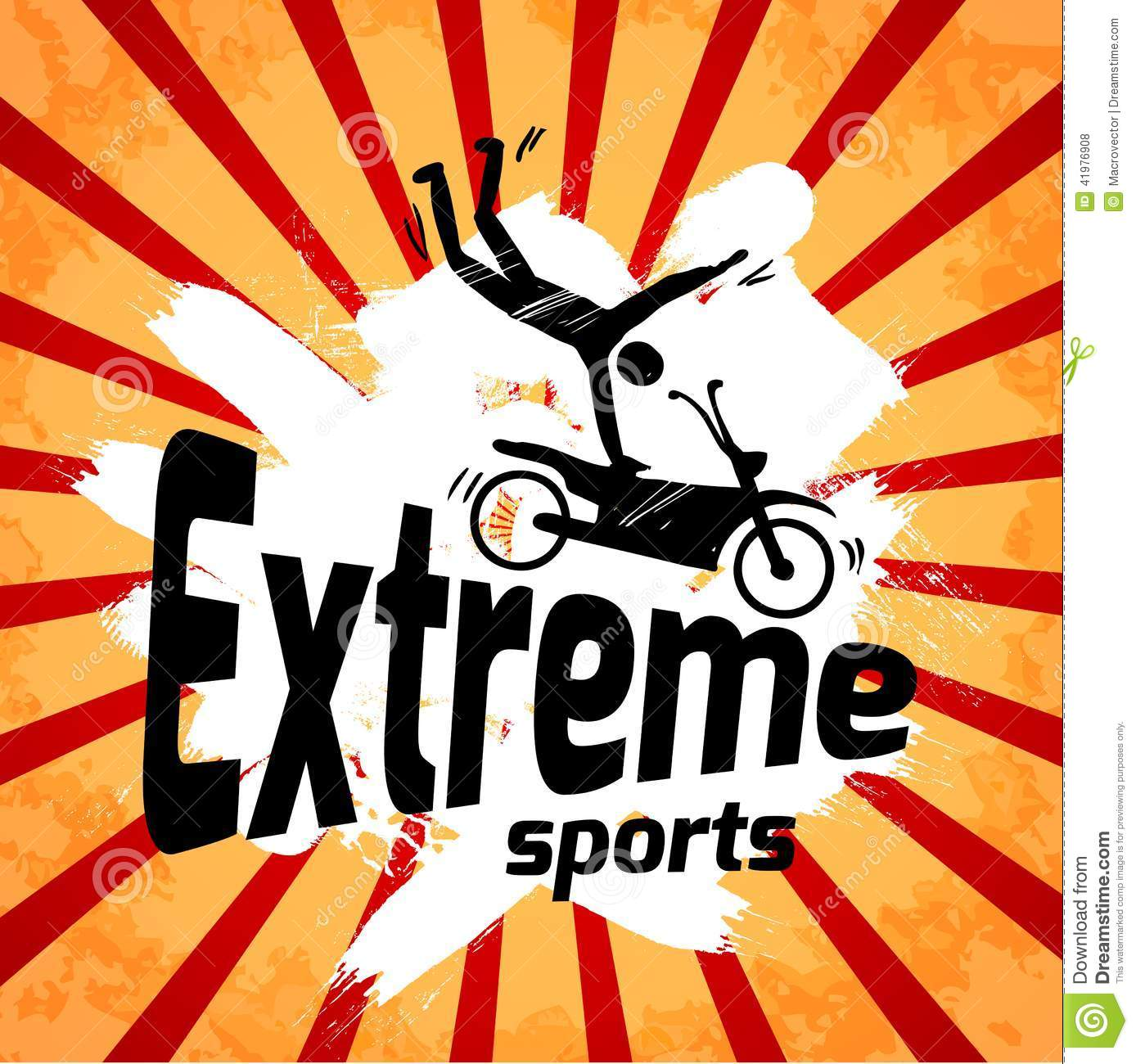 Extreme Sports Poster Stock Vector